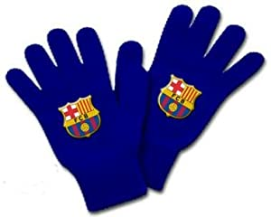 FC Barcelona Navy Knitted Gloves with Crest