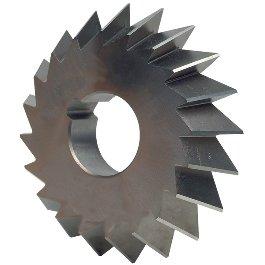 NIAGARA 12850 4'' X 3/4'' X 1-1/4'' 60° 20T SINGLE ANGLE HSS MILLING CUTTER