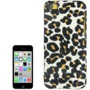 White Leopard Pattern Shimmering Powder Plastic Case for iPhone 5C