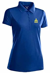 Seattle Mariners Ladies Pique Xtra Lite Polo Shirt (Cooperstown) by Antigua