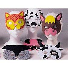 12 Farm Animal Foam Masks