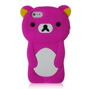 Iphone 5 3D Rilakkuma Teddy Bear Silicon Case