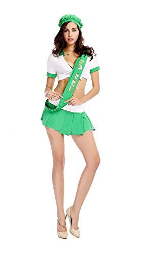 Halloween Sexy Oktoberfest Beer Girl Cheerleaders Cosplay Party Costume Dress