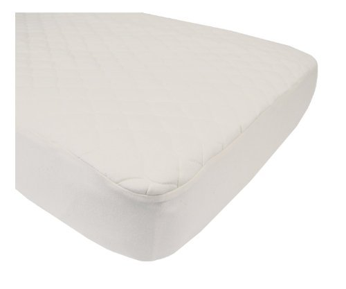 American Baby Company Organic Cotton Quilted Crib & Toddler Crib Size Fitted Mattress Pad Covers, Natural (2)