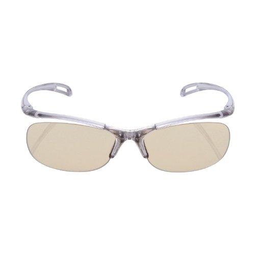 ELECOM ブルーライト対策眼鏡 超吸収 ブラウンレンズ グレー OG-YBLP01GY