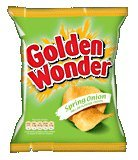Golden Wonder Spring Onion Crisps 32.5g 48 Box