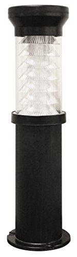 Gama Sonic Bollard Solar Outdoor Led Path And Driveway Light, Black Finish #Gs-127-B