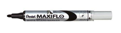 PENTEL Lot de 3 marqueurs MAXIFLO MWL5S pour tableau blanc, noir