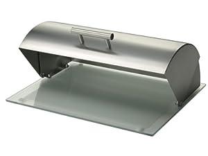 Zeller 27278 Boite à pain en verre/inox, 39 x 29 x 15,3 cm