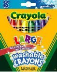BIN523280 - Kids First Larger Size Washable Crayons