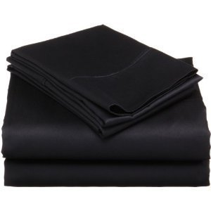 Queen Sheet Set 6 Piece 1500 Series Microfiber Sheet & Pillowcase Set Black