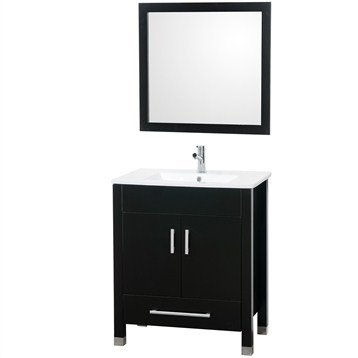 Mandy 30 Inch Bathroom Vanity Set - Espresso