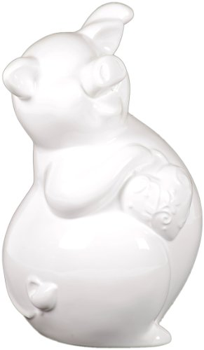 Urban Trends Collection UTC70541 Ceramic Piggy Bank, White