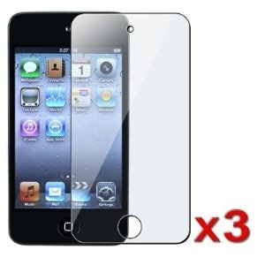 LE 3PCS LCD Full Cover Screen Guards / Protectors for Apple iPod Touch 4 / 4G / 4th Gen Generation
