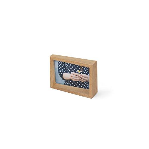 Umbra 1004215-390 Edge Fotohalter Natur, für Fotos mit 10,2 x 15,2 cm Größe, Holz, 16.306999999999999 x 11.1 x 5.0039999999999996 cm