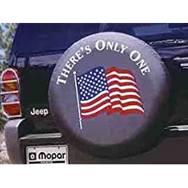 NEW JEEP WRANGLER AMERICAN FLAG SPARE TIRE COVER OEM MOPAR