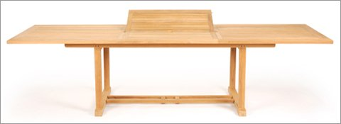 Caluco 50-144 Teak Rectangle Extension Dining Table