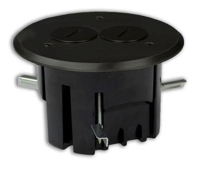 Allied Moulded Fb-3Db Duplex Receptacle, Round, Floor Box Assembly
