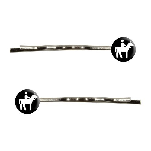 Horseback Riding Horse Equestrian Bobby Pins Barrettes Hair Styling Clips by Graphics and More