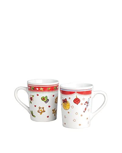 ZZZ_Merry Christmas Becher 6er Set 350 Ml weiß