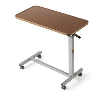 Eva Medical Adjustable Overbed Table with wheels (Hospital and Home Use) (Table Wheels compare prices)