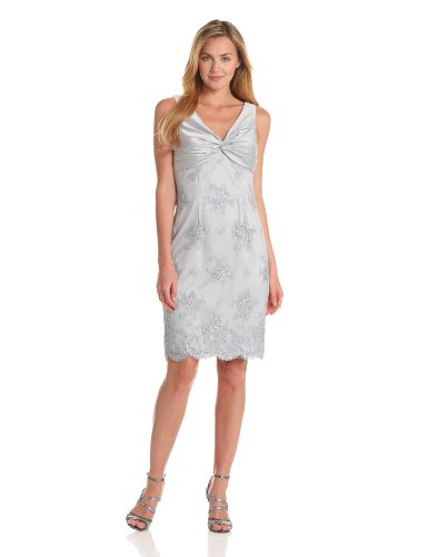 Adrianna Papell Women's Twisted Lace Dress With Jacket