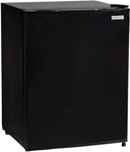 Magic Chef - 2.4 Cubic-Ft All Refrigerator *** Product Description: Magic Chef - 2.4 Cubic-Ft All Refrigerator 2.4 Cu-Ft Capacity Wire Shelvesadjustable Temperature Thermostat Control Frost Free Flush Back Design Leveling Legsblack Door & Cabinet *** front-613534