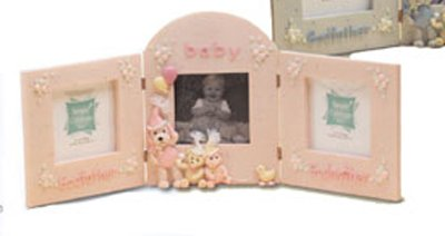Godparents and Baby Picture Frame - Girl