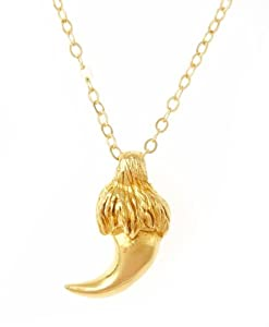 Leo Zodiac Necklace - Lion's Claw (Gold Vermeil)