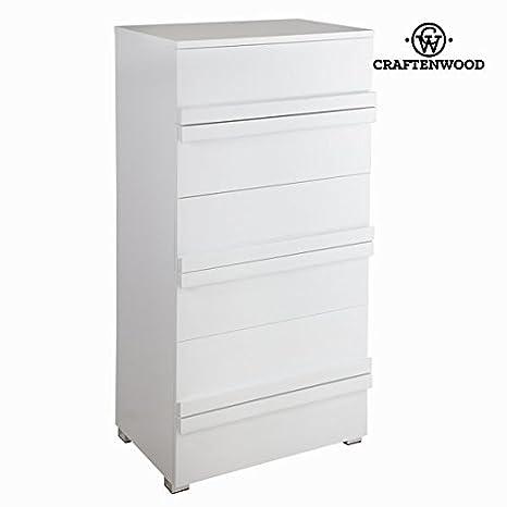 Cassettiera bianca laccata - Pure White Collezione by Craften Wood (1000026286)
