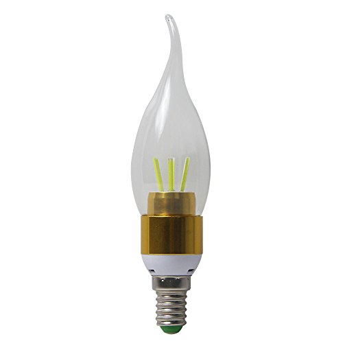 niceEshop(TM) Flamme Form LED E14 4W 450lm COB Kaltweiß Kerze Licht Stufenlose Dimmen Birne