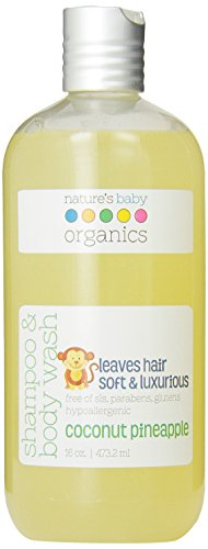 Natures Baby Organics Shampoo And Body Wash, Coconut Pineapple, 16 Fluid Ounce