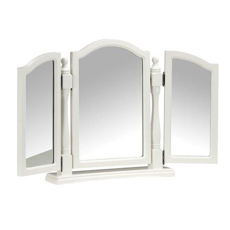 Dressing Table Triple Mirror - 3 Piece Mirror - Ladies Dressing Table Mirror - Off White