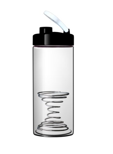 Best Prices! Sun's Tea (TM) 21oz Borosilicate Glass Blender Bottle /Shaker Bottle with hourglass-sha...
