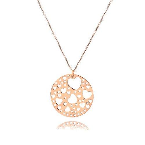 Mishca Jewels Ladies N71-R Forever Hearts Pendant (Rose Gold Vermeil) 42cm