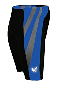 Men's Sublimation Print Gel 3-D Padded Cycling Biking Short (Large, Blue)