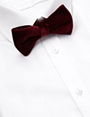 Autograph Pure Cotton Velvet Bow Tie MADE WITH SWAROVSKI® ELEMENTS
