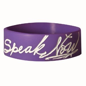 Speak Now Purple Rubber Bracelet
