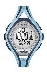 Timex Ironman Sleek Mid-size 150-lap TapScreenTM Digital Grey Dial Women's watch #T5K288