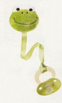 FROG baby PACIFIER PAL rattle PLUSH TOY attachment