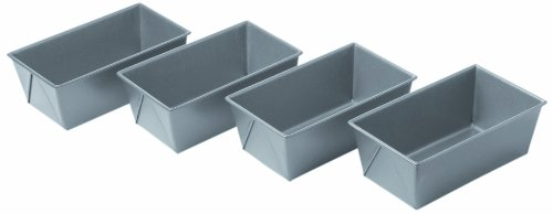 Chicago Metallic Commercial II Non-Stick Mini Loaf Pans, Set of 4 (Bread Pan Commercial compare prices)