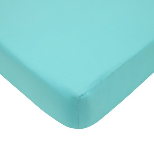 American Baby Company 100% Cotton Percale Fitted Crib Sheet, Aqua