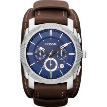 Fossil Machine Chronograph Leather Watch Espresso by FOSSIL