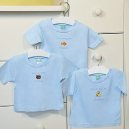 It's a Boy! Personalized Baby T-Shirts (Set of 3)