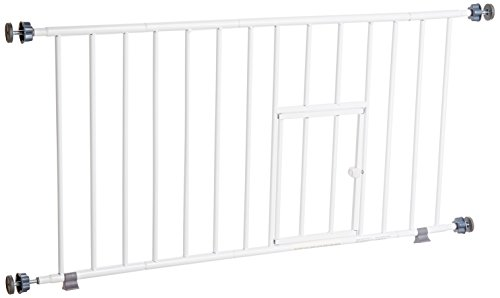 Carlson 0680PW Mini Gate with Pet Door, White (Baby Gate Pet Door compare prices)