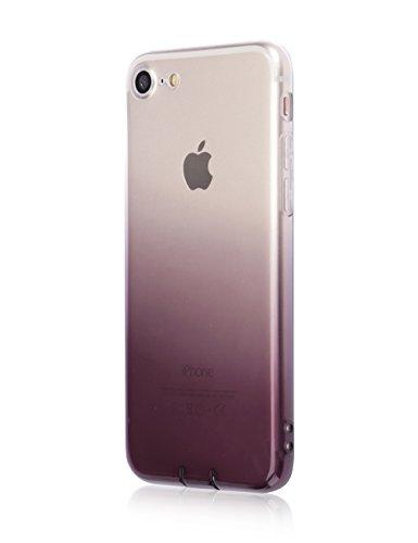 (EnjoyBridal)iPhone7 iPhone7Plus ケースカバー TPU 耐衝撃 ストラップキャップ 防塵キャップ付き 一体型デザイン スマホケース グレー 5.5インチ