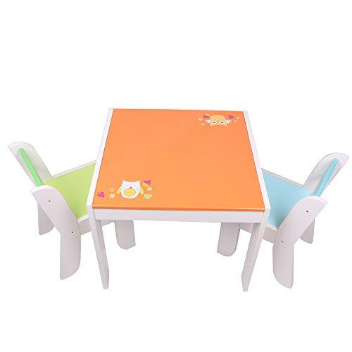 labebe sitzgruppe eule mit 1 kindertisch 2 stuhl. Black Bedroom Furniture Sets. Home Design Ideas