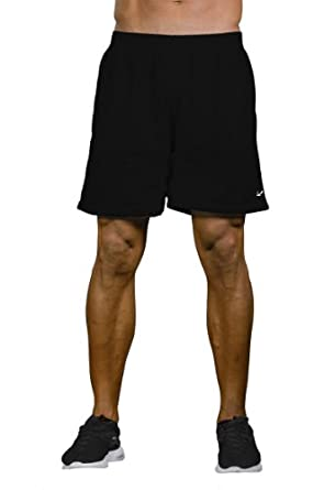 "Pitbull Gym Mens Reversible ""DOUBLE CROSS"" Daily Workout Shorts (Black-S)"