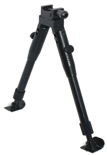 UTG Low-Profile Deluxe Universal Picatinny & Swivel-Stud Bipod