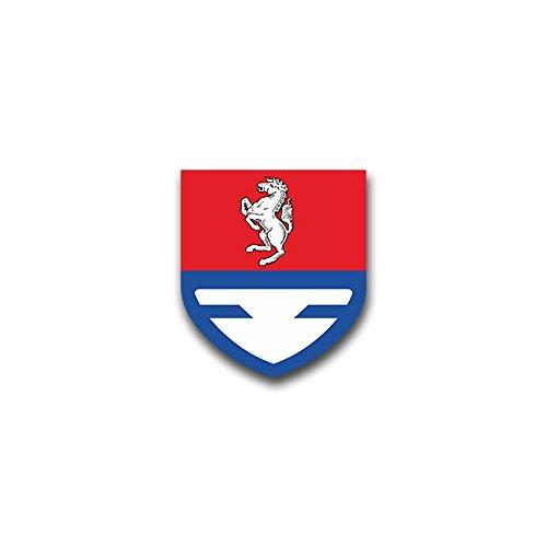 Aufkleber / Sticker - Nachschubbataillon 7 Heer Bundeswehr Glückauf-Kaserne Unna Wappen Abzeichen Emblem passend für VW Golf Polo GTI BMW 3er Mercedes Audi Opel Ford (6x7cm)#A1600